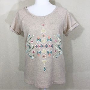 Zara trafaluc tribal top size small